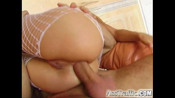 Ass Traffic Cora swallows cock and gets DP'd in...