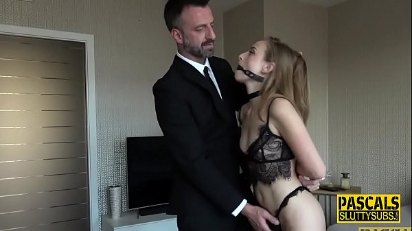 Whipped and bound submissive gets fingered Thumb