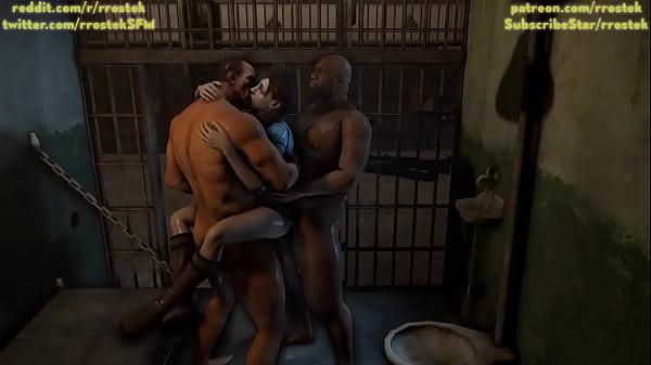 Jill Valentine gangbanged hard in prison 3D porn Thumb