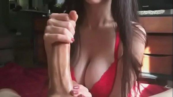 Bunnybutt handjob cum on tits