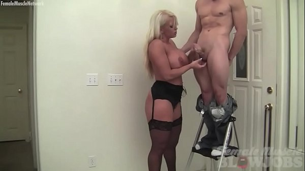 Female Muscle Porn Star Takes Cum on Her Huge Tits  thumbnail