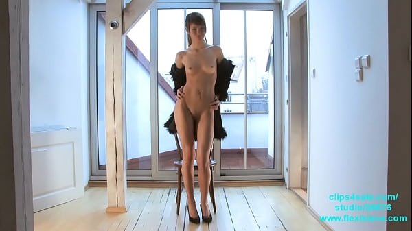 Skinny long legged fashion and BDSM model Candy tied up and whipped Thumb