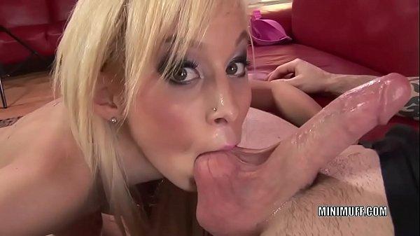 Petite hottie Morgan Layne takes a cock in her tight twat