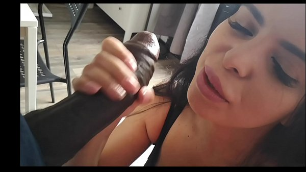 A brunette with blue eyes and huge tits makes her husband cuckold with Joss Lescaf's big black cock and films herself to humiliate him. Part1