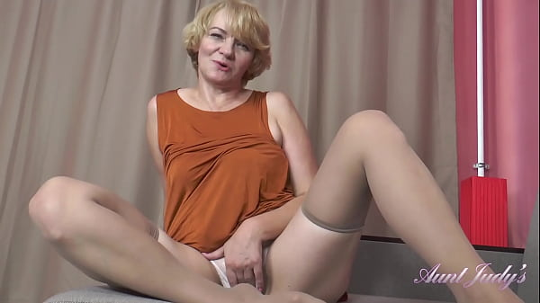 AuntJudys – 56yo Step-Auntie Aliona SUCKS YOUR COCK and JERKS YOU OFF