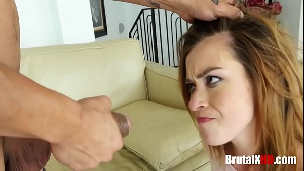 Brunette Teen Brutally By Dad