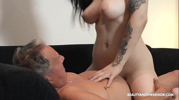 Beautiful MILF and sucks and fuck at grandpas Thumb