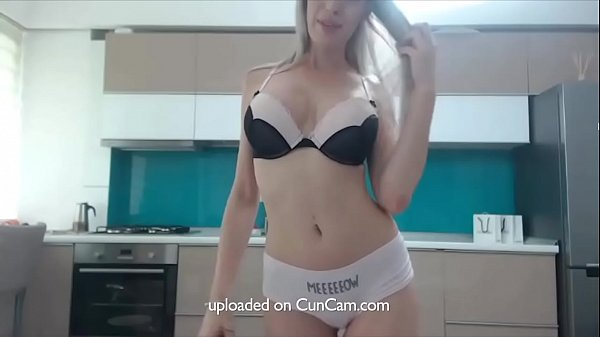 Sexy blonde playing with dildo and teasing on webcam. More on cuncam.com Thumb