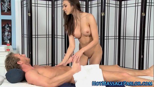 Cock hungry masseuse tugs
