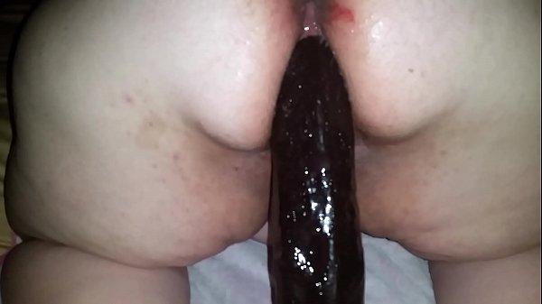 Bbw ruins her big loose pussy