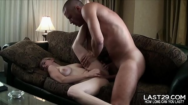 geeky blonde moans with pleasure while guy pounds her in bed Thumb