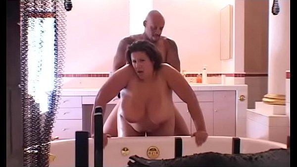 Black BBW slut Monet Staxxx gets drilled hardcore in the bathroom