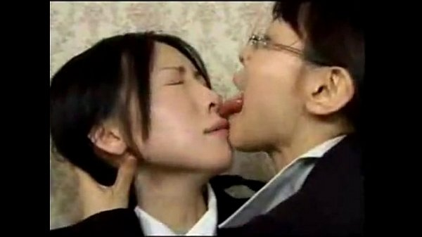 Asian Lesbian Deep Tongue Kiss