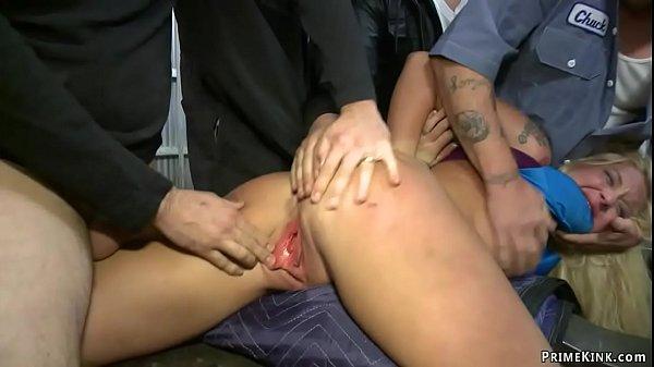 Big tits blonde fucked in public garage Thumb