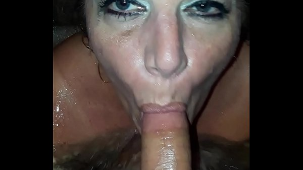 Sexy MILF fucking young BF in hot tub!