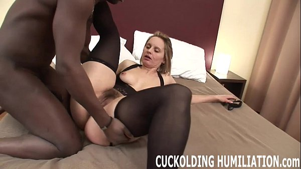 I am going to gag on his black cock while you watch