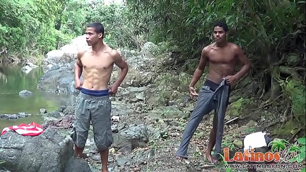 Latin Gay Wanking His Cock In The Woods