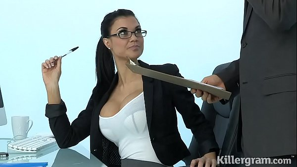 Sexy Milf Jasmine Jae plays the office slut addicted to hard cock Thumb