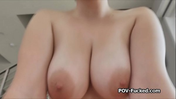 POV titty and pussy fucking the busty beauty Cara