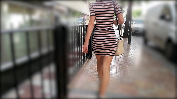 Hot Wife Walking In Tight Dress Wiggling Sexy Booty Thumb