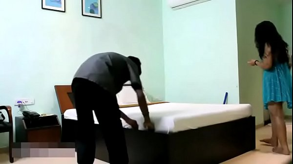 Bhabhi Hot Sex: Indian Bhabhi In Blue Lingerie Teasing Young Room Service Boy