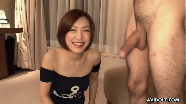cute asian sees her first cock