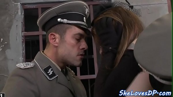 Pretty prisoner DP screwed by horny guards Thumb