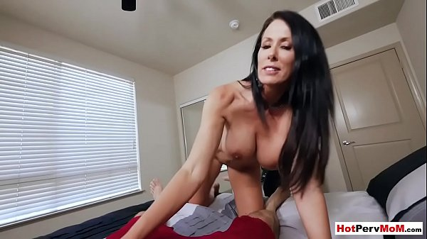 Husband was out of town but MILF stepmom needed a cock