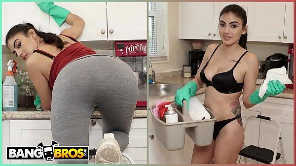 BANGBROS - My Dirty Maid Michelle Martinez Sucks My Cock Clean