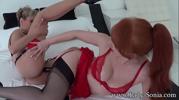 Lady Sonia and Red fuck each other wih a huge double BBC  thumbnail