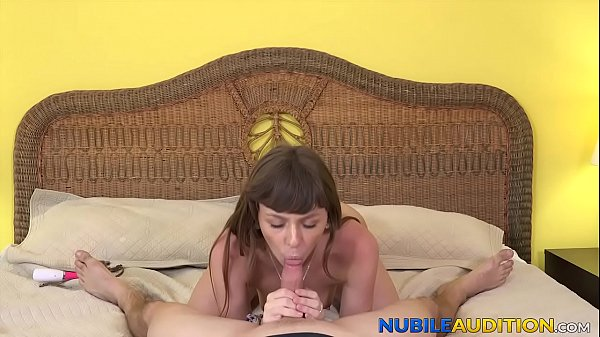 Young babe receives cum in mouth after missionary in casting