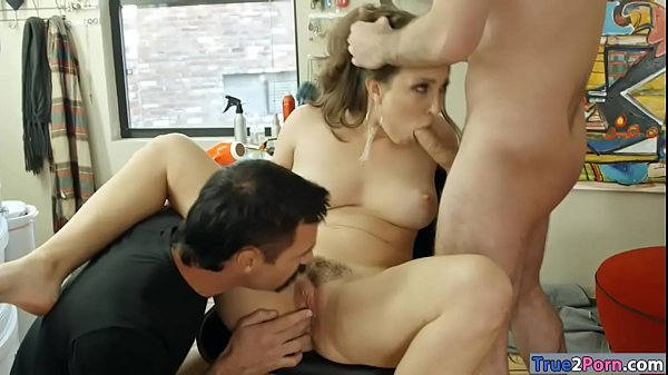 Kinky Woman Lily Love Takes Two Cocks In Her Mouth And Pussy