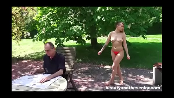 Slutty Tattooed Chick Tastes Grandpa's Cum Thumb