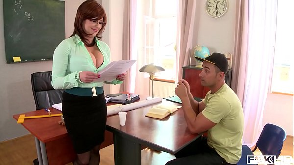Hardcore fuck leads to spurt of cum all over tutor Sandra Boobies' big tits Thumb