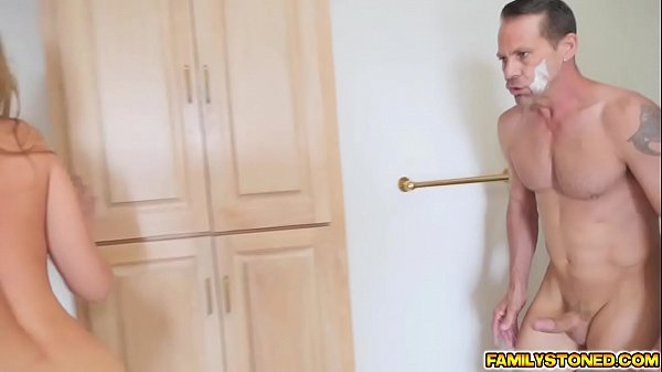 Blair Williams continue riding her step dad in bed
