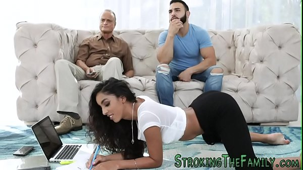 Mexican stepsister nailed and facialized