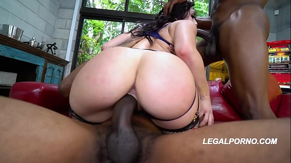 Big black cocks deep fucking Mandy Muse in her big booty until she screams