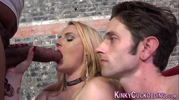 Fetish cuckolder lick cum