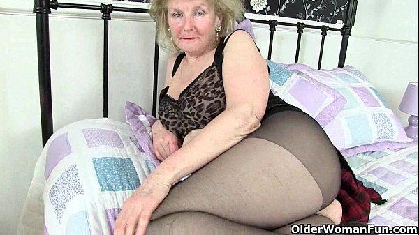 Granny in tights