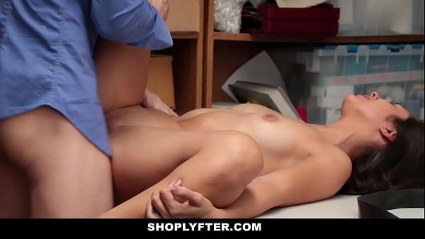 Tiny Latina Teen Shoplifter Fucked