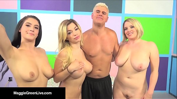 US Porn Star Maggie Green Has a 4 Way Orgy W/ Noelle Easton! Thumb