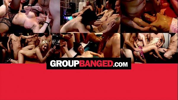 Порно толпой с огромными членами
