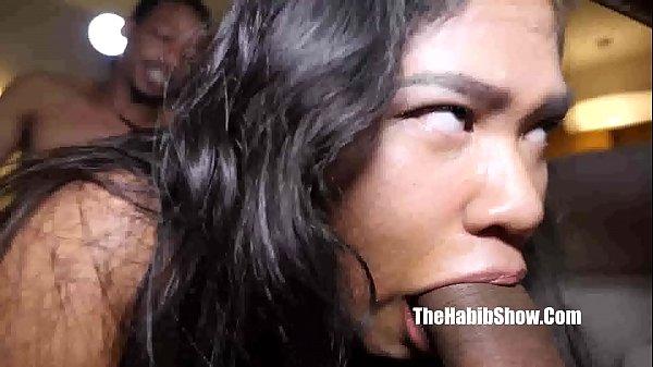 asian teen freak gets gangbanged
