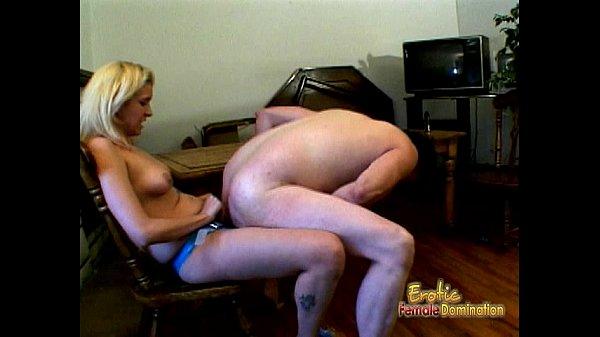 Smoking hot femdom session with a slutty blonde...