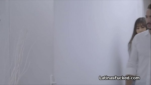 Filling Spanish female room mate with big cock