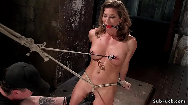 Busty Milf slave ass and pussy toyed Thumb