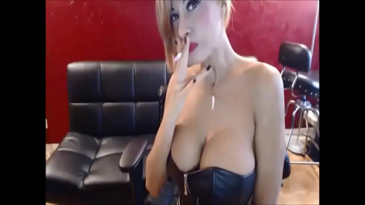 Agentsexyhot Gagging Porn big tit blonde sandi smoking and telling you to jerk off