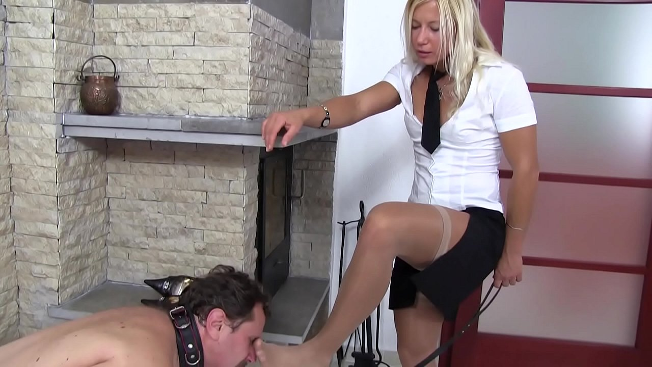 Compilation of sadistic glamour girls forced slaves to foot smelling