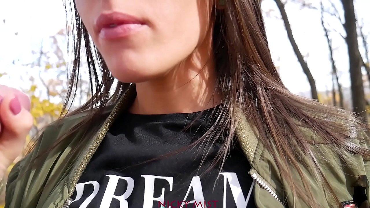I Met My Step Sister In The Park - Brunette Babe 60 Fps  - 15