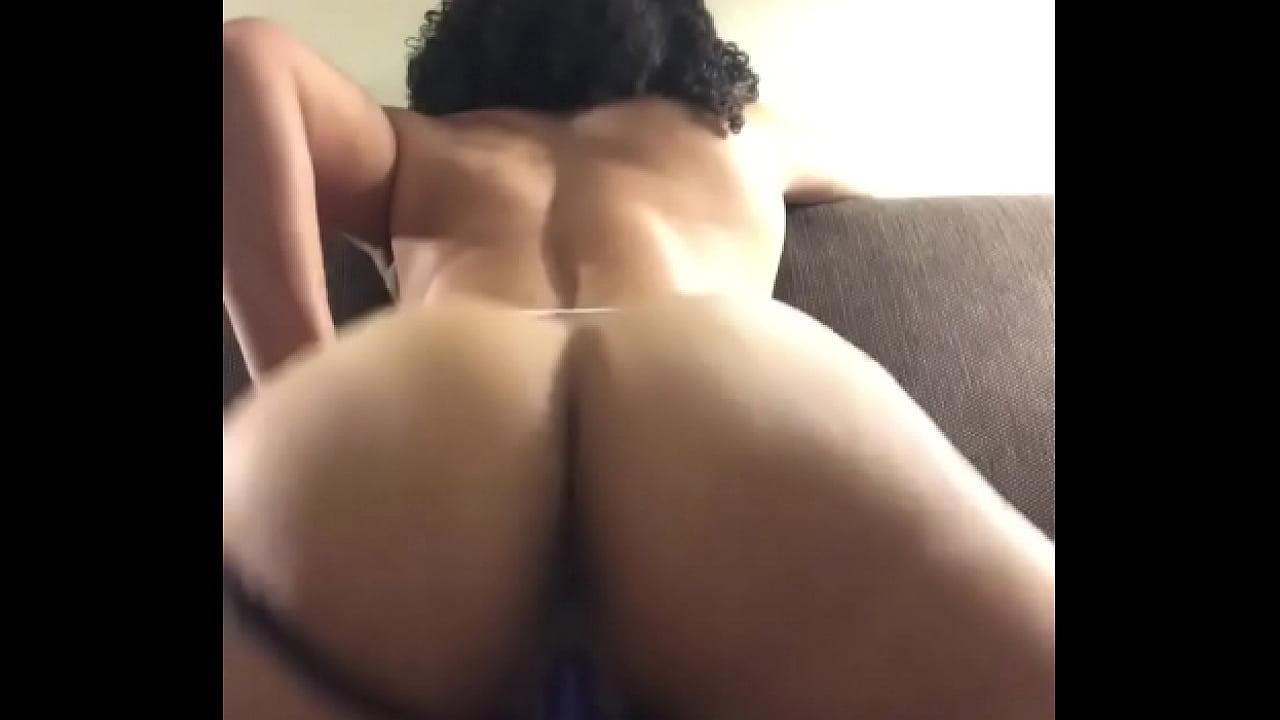 Ebony Female Riding Dildo